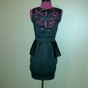 NWT DEB Black Peplum dress